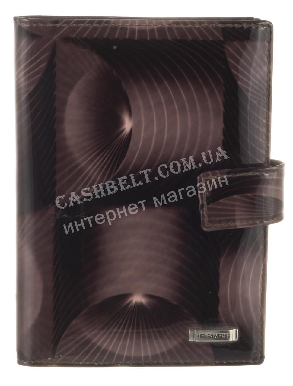 Стильная кожаная лаковая документница высокого качества H.VERDE art. HV-27 BLACK 14M полосы
