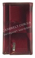 Стильная прочная лаковая надежная кожаная ключница HELEN VERDE art. HV-61 MAUVE 14M красный