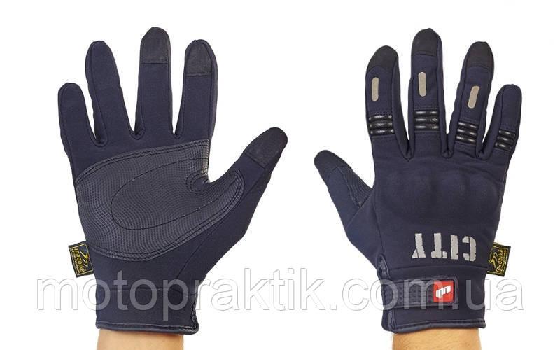 MADBIKE MAD-07 Gloves, Black, M Мотоперчатки текстильні з захистом