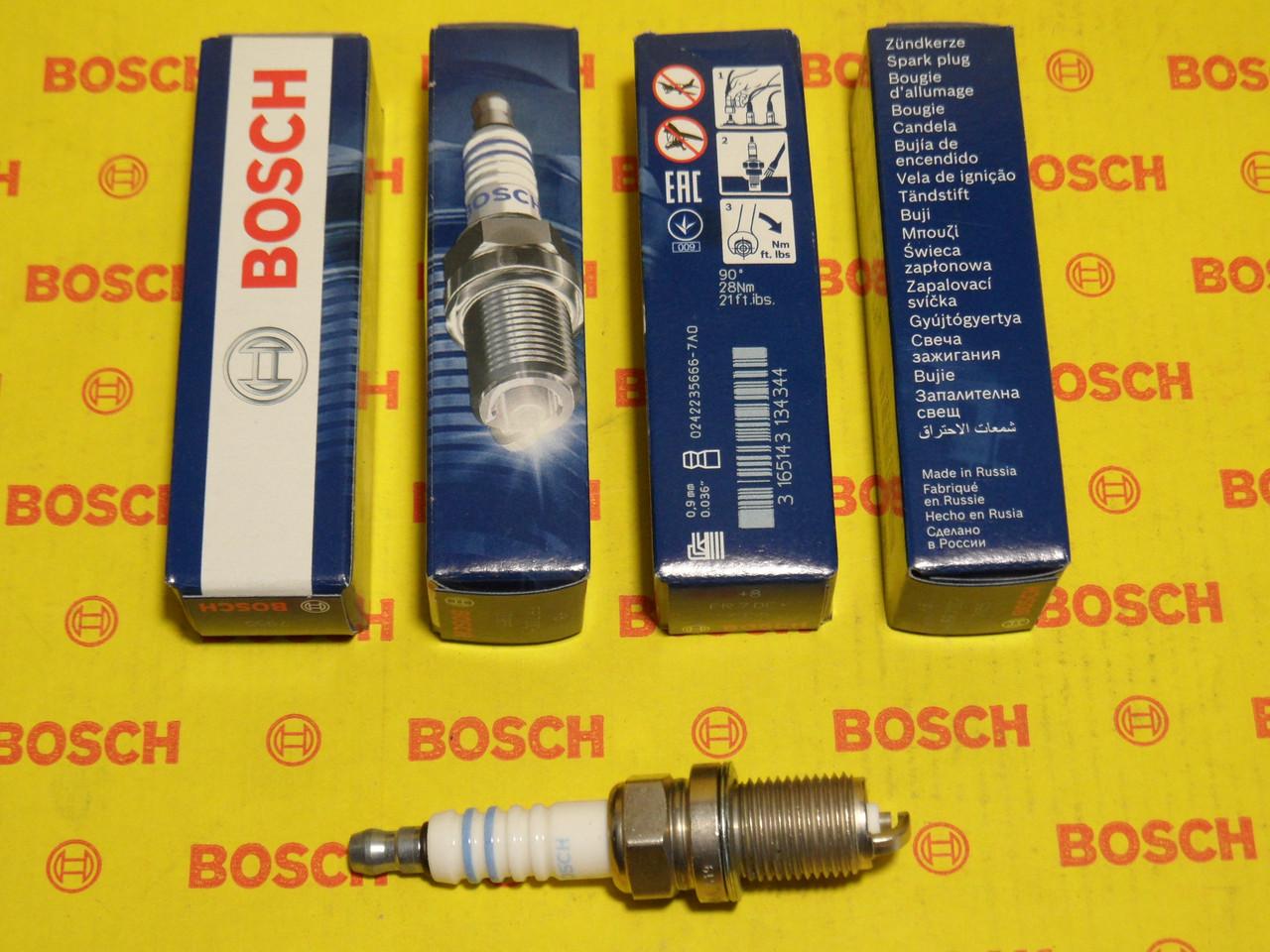 Свечи зажигания BOSCH, FR7DC+, +8, 0.9, Super +, 0242235666, 0 242 235 666,