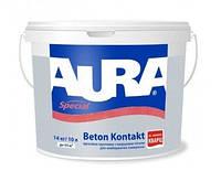 Грунт с кварцевым песком AURA BETON CONTACT адгезионный