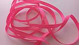 Лента репсовая 0,6 см ярко розовая, фото 2