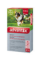 Капли Bayer Advantix (Адвантикс) от блох и клещей для собак 10-25 кг
