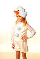 Новогодний меховой костюм снеговика для мальчика, детские новогодние костюмы оптом от производителя