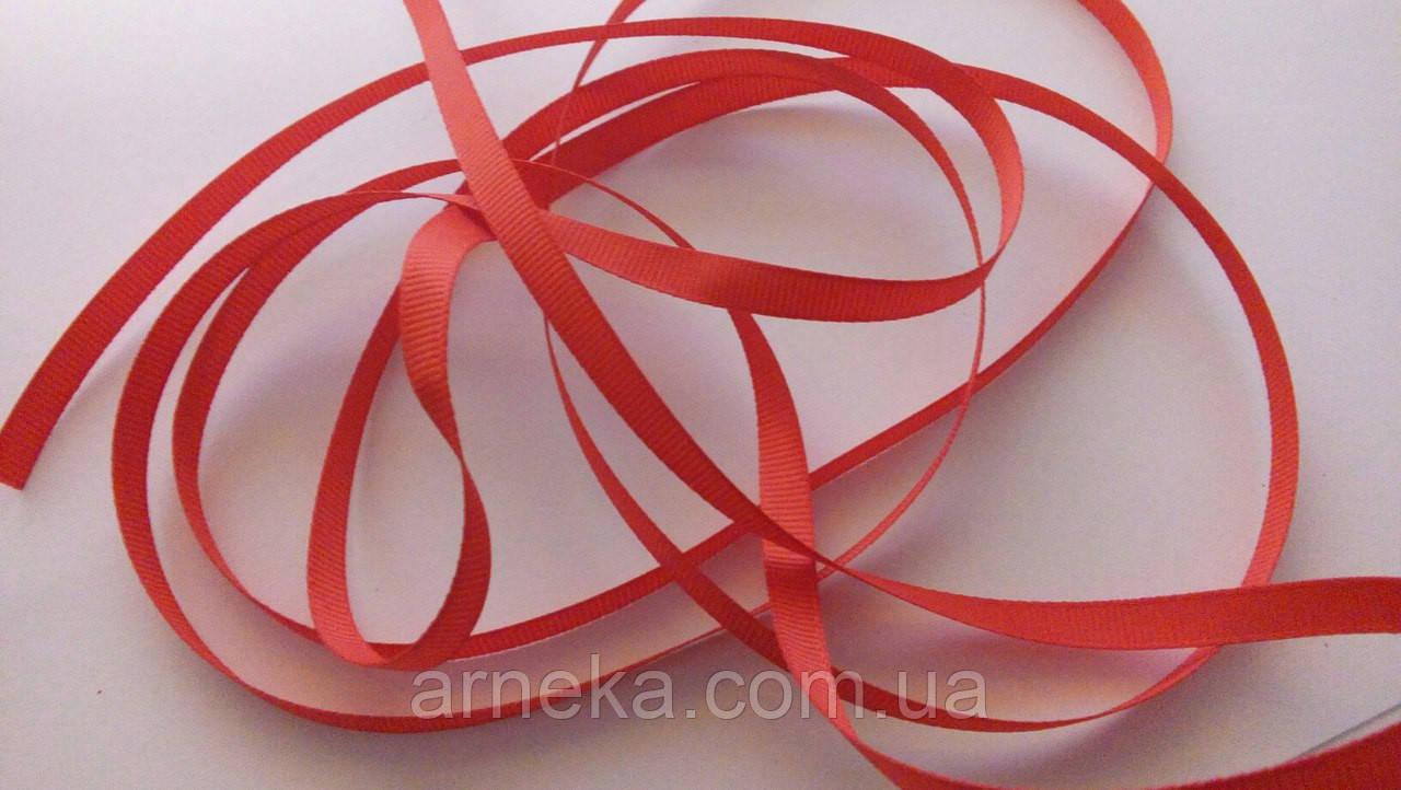 Лента репсовая 0,6 см красная