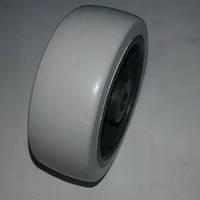 Ролик мебельный серо-чёрный (Ф-71мм), материал резина