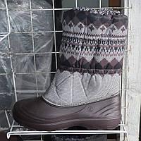 Жіночі зимові чоботи-дутіки на гумці