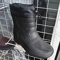 Чоловічі  зимові  укорочені  чоботи-дутіки  на  зав'язках