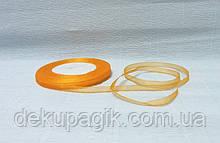 Лента органза, Оранжевая, 0,5см