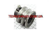 168F 170F Шкив ведущий D=55мм под коленвал 20мм 2-х ручейковый, алюминий