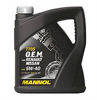 Оригинальное моторное масло MANNOL O.E.M. for Renault Nissan 5W40 API SN/CF 4л
