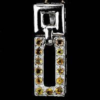 Цитрин, серебро 925, кулон, 063ПЦ