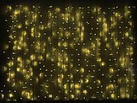 Светодиодная гирлянда DELUX Curtain 2х7 м 1520 LED Каучук Белый, Желтый