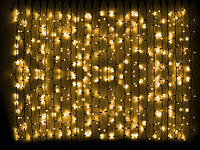 Светодиодная гирлянда DELUX Curtain 2х7 м 1520 LED Каучук Черный, Желтый