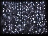 Светодиодная гирлянда DELUX Curtain 2х1,5м 456LED Каучук Черный, Теплый белый