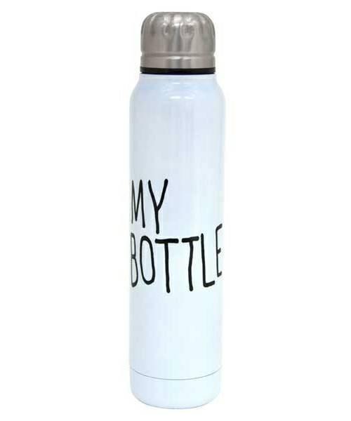 🔝 Термос для напитков, My Bottle, 300 мл., цвет - белый | 🎁%🚚