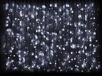 Светодиодная гирлянда DELUX Curtain 2х1,5м 456LED Каучук Черный, Белый
