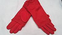 Женские двойные рукавицы, красный, разных цветов и размеров, 145/110 (цена за 1 шт. + 35 гр.)