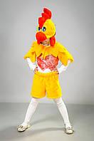 Карнавальный новогодний детский костюм Петушок парча