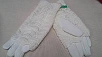 Зимние женские рукавички белого цвета, разных цветов и размеров, 145/110 (цена за 1 шт. + 35 гр.)