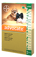 Капли Bayer Advocate (Адвокат) комплексные от паразитов для собак до 4 кг