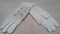 Женские двойные рукавицы белого цвета, разных цветов и размеров, 150/120 (цена за 1 шт. + 30 гр.)
