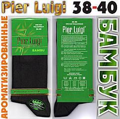 """Носки женские тонкие высокие ароматизированные бамбук""""Pier luigi"""" Турция 38-40 р чёрные НМП-2358"""