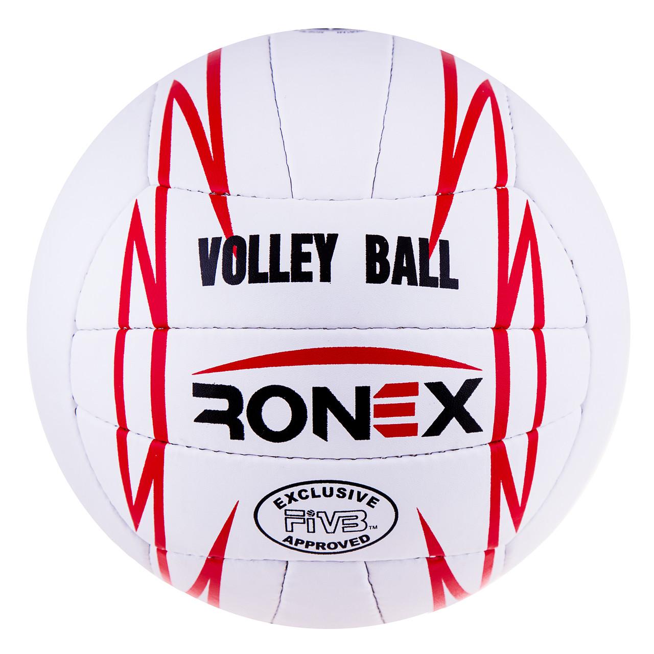 Мяч волейбольный Ronex Orignal Grippy Red/Black RXV/12