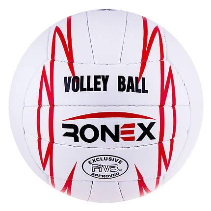 Мяч волейбольный Ronex Orignal Grippy Red/Black RXV/12, фото 2