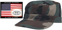 Армейская кепка US BDU Rip Stop (XXL) woodland-stonewashed MFH 10213S