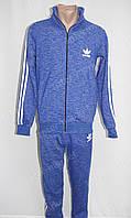 Cпортивный костюм ADIDAS синий, теплый