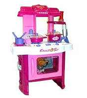 Набор кухня для девочек 008-26, плита, духовка, раковина, 15 предметов, звук, свет, 62 см