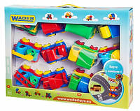 Набор машинок Kids cars 12 шт. с ковриком Wader (39243)