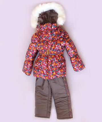 """Зимний костюм для девочки """"Резинка зверята"""", фото 2"""