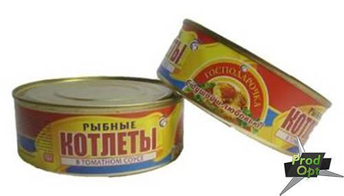 Котлети рибні в томатному соусі №3 Господарочка 240 г  , фото 2