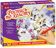 "Роспись по холсту ""Котята"" 4942"