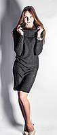 Платье из трикотажа ангоры Хомут р.44-50 темно-серый