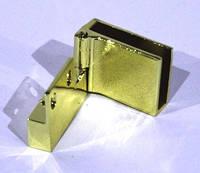 Петля для скляних дверей угл: золото D-614 G3    , фото 1