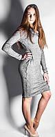 Платье из трикотажа ангоры Хомут р.44-50 св-серый
