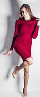 Платье из трикотажа ангоры Хомут р.44-50 красный