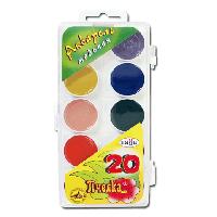 _Краски акварель Гамма 20цв пластик