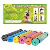 Коврик для йоги и фитнеса Profi Fitness