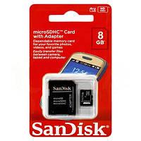 Карта памяти SanDisk microSDHC  8GB с адаптером   dr.