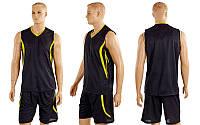 Форма баскетбольна чоловіча Moment CO-3864-BK (поліестер, р-р M-XL, чорний)