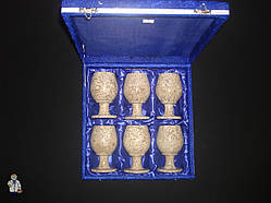 Набор бокалов для вина (яшми) на 6 персон