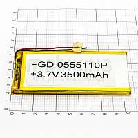 Литий-полимерная батарея 0555110P (3500mAh) универсальный аккумулятор для техники.
