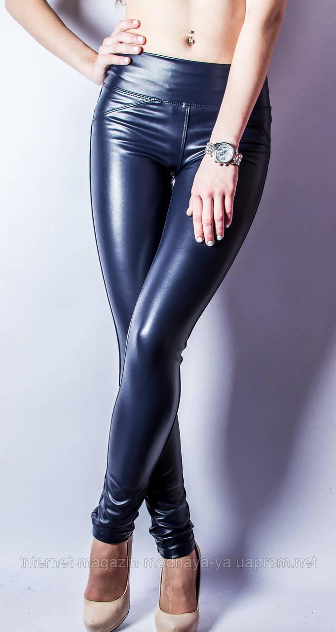 678e4a3a3286d Кожаные лосины брюки №11 на флисе р.40-50 синий, цена 325 грн ...