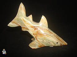 Акула из оникса (15х9 см.)