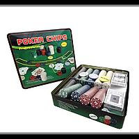 Покерный набор в металлической коробке на 500 фишек N°500T-X
