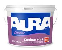 Краска структурная AURA DEKOR STRUKTUR MINI фасадная